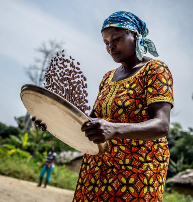 Ciocolata Organica cu lapte Femmes de Virunga 55% - Origine Virunga, Congo de Est 1