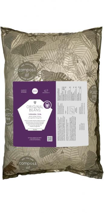 Ciocolata pentru Gatit Vegana Organica Couverture Virunga 70% - Origine Congo de Est 0