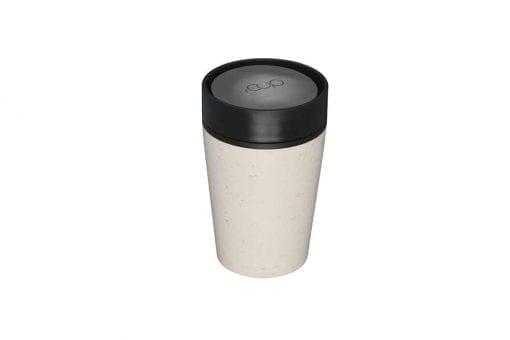 Circular & Co Pahar refolosibil ecologic - crem & negru 8oz 2