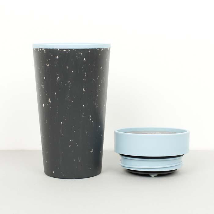 Circular & Co Pahar refolosibil ecologic - negru & teal 12oz 6