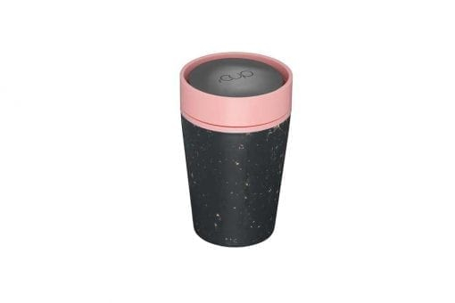Circular & Co Pahar refolosibil ecologic - negru & roz 8oz 1