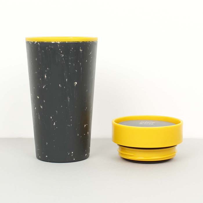 Circular & Co Pahar refolosibil ecologic - negru & mustar 12oz 9