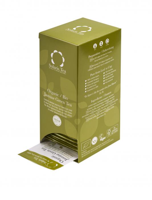Ceai Organic Verde Iasomie 40 plicuri 3