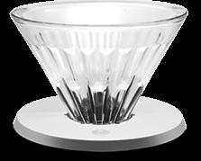 """Dripper sticla optica cu suport metalic argintiu  """"Crystal Eye"""" Timemore 0"""
