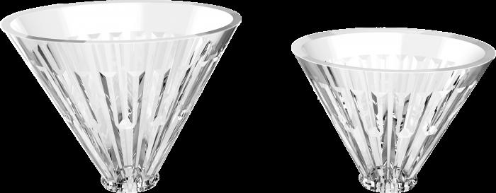 """Dripper sticla optica cu suport metalic argintiu  """"Crystal Eye"""" Timemore 1"""