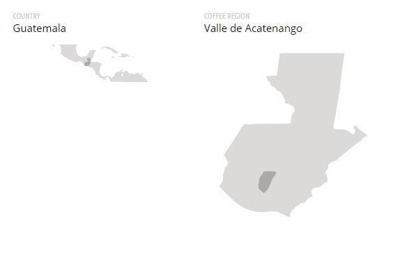Cafea verde Guatemala Acatenango Valley 1