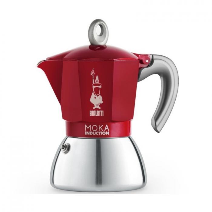 Moka Pot Bialetti cu Inductie 6 cupe 300 ml - Rosu [0]
