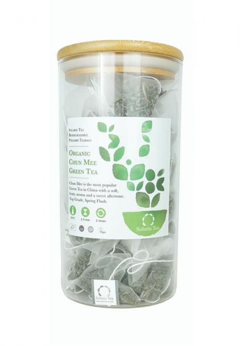 Organic Chun Mee Green Tea Pyramid Teabags – Food Service 0