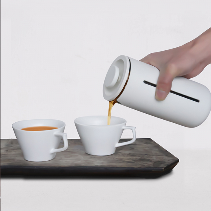 Presa franceza - ALB 450ml pentru cafea si ceai TIMEMORE [13]