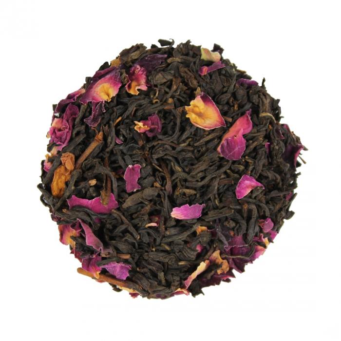 Ceai Negru Organic Congou cu petale de trandafir rosu [0]