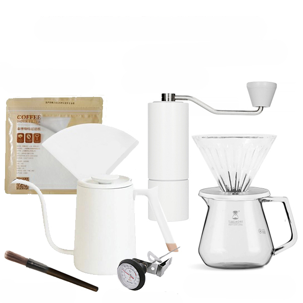 Set cadou C2 Pour over (Fish Pure) alb Timemore 5