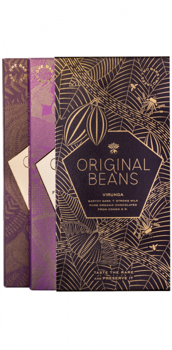 Set Cadou 2 Tablete de Ciocolata Organica Virunga & Femmes 0