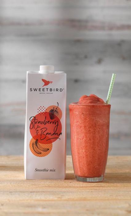 Smoothie Strawberry & Banana Sweetbird 1L 1