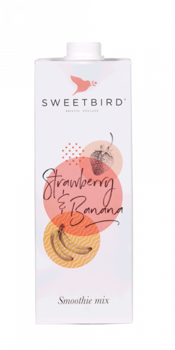 Smoothie Sweetbird Strawberry & Banana 1L 0