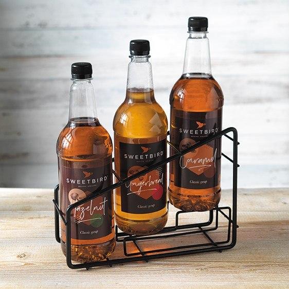 Stand metalic negru pentru 3 sticle sirop Sweetbird [1]