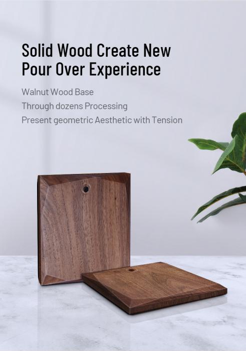 Suport pentru dripper din alama + lemn Timemore [7]