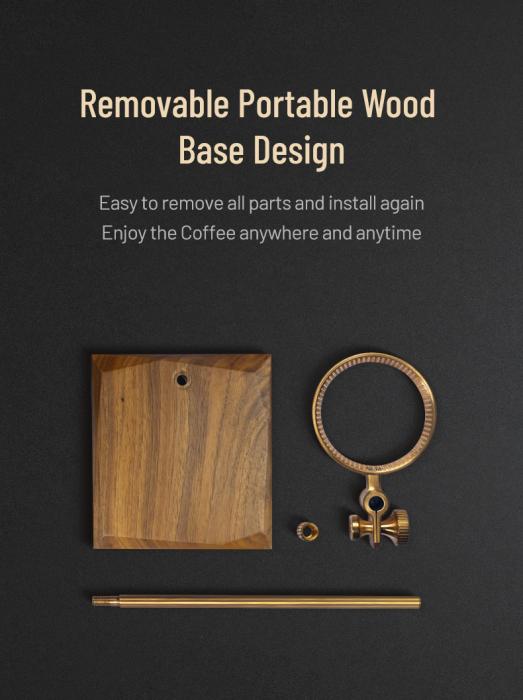 Suport negru pentru dripper din alama + lemn Timemore [3]