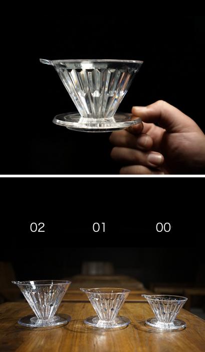 "Dripper plastic rezistent  ""Crystal Eye PC"" Timemore 10"