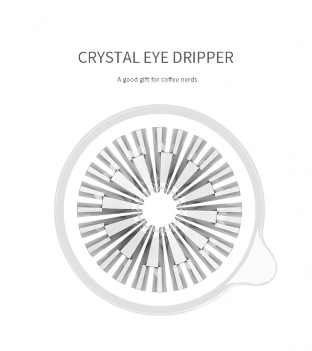 "Dripper plastic rezistent  ""Crystal Eye PC"" Timemore 9"