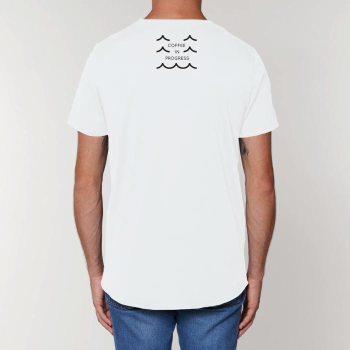 Tricou Alb Personalizat Dropshot Longboard [1]