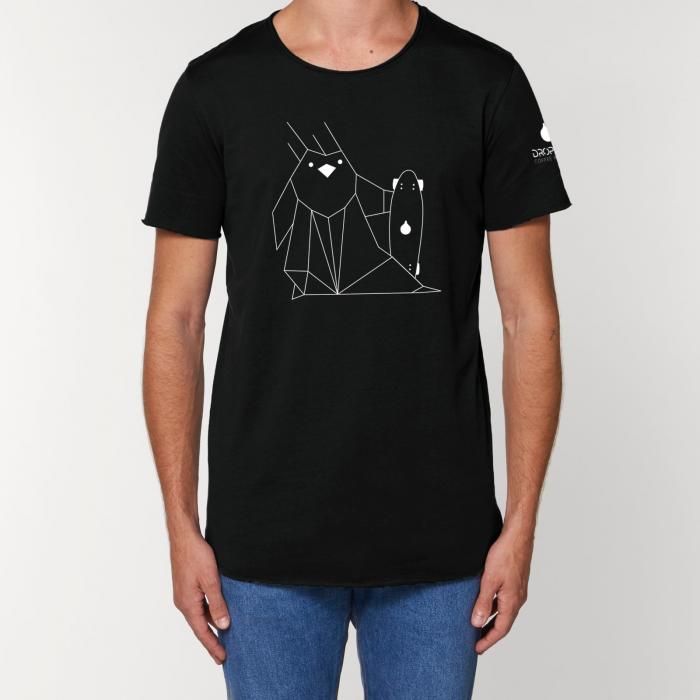 Tricou Negru Personalizat Dropshot Longboard [0]