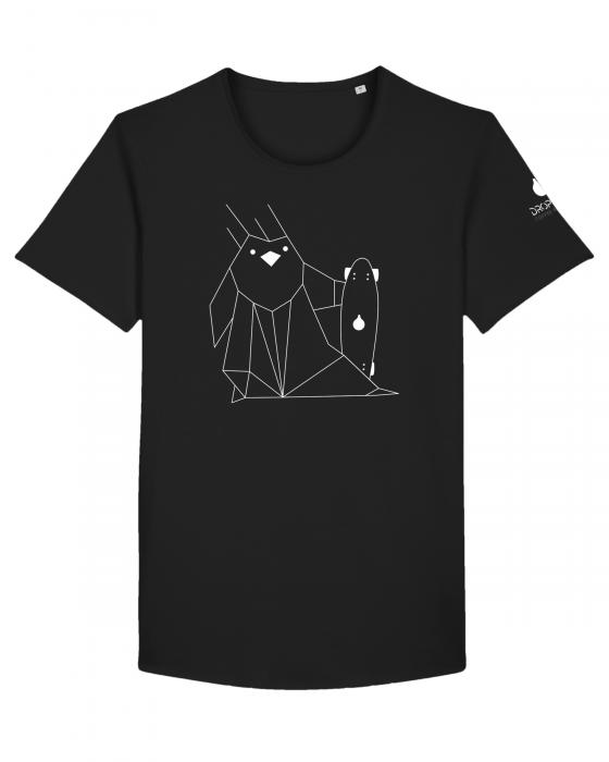 Tricou Negru Personalizat Dropshot Longboard [2]
