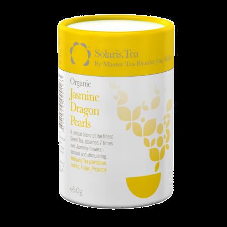 """Ceai Organic Iasomie """"Perlele Dragonului"""" Frunze Cilindru 50gr0"""