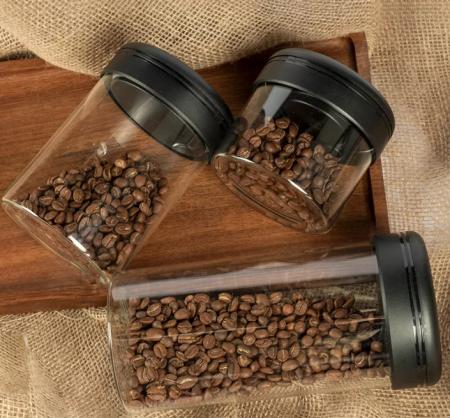 Recipient cafea din sticla 800ml NEGRU Timemore [2]