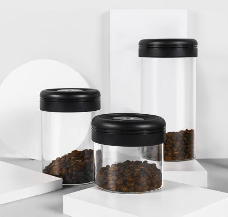 Recipient cafea din sticla 1200ml NEGRU Timemore [2]