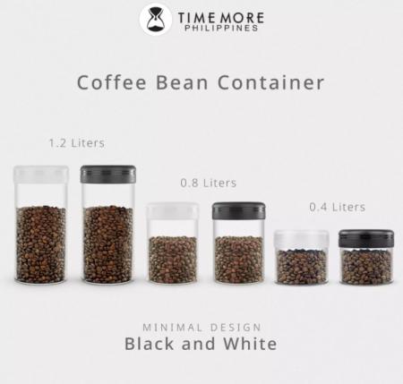 Recipient cafea din sticla 400ml NEGRU Timemore [5]