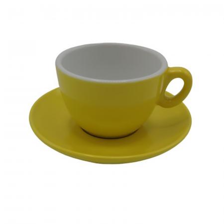 Ceasca Cappuccino din portelan Inker 170ml - Galben [1]