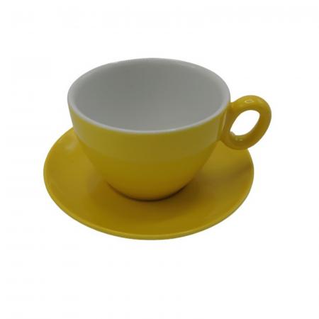 Ceasca Latte din portelan Inker 350ml - Galben [1]