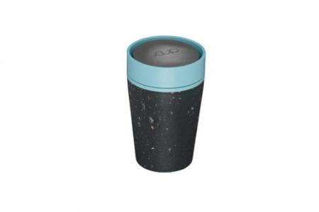 Circular & Co Pahar refolosibil ecologic - negru & teal 8oz7