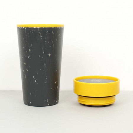 Circular & Co Pahar refolosibil ecologic - negru & mustar 12oz9