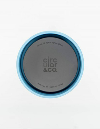 Circular & Co Pahar refolosibil ecologic - crem & teal 8oz [8]