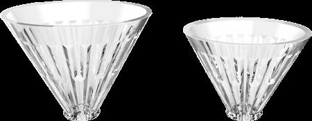 """Dripper sticla optica cu suport metalic argintiu  """"Crystal Eye"""" Timemore1"""