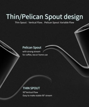 "Kettle electric ""Pelican Spout"" standard timemore6"