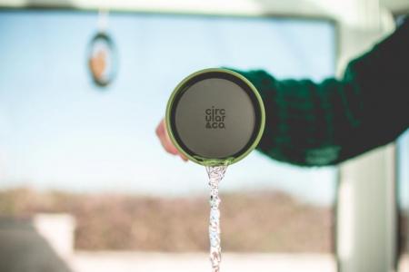 Circular & Co Pahar refolosibil ecologic - crem & verde 12oz3