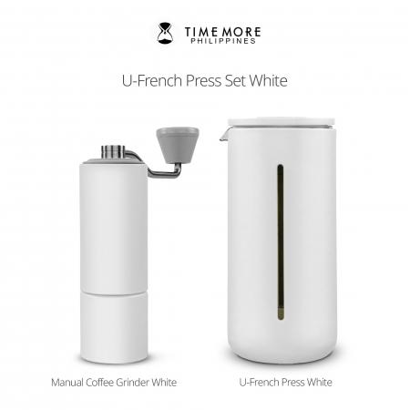 Presa franceza - ALB 450ml pentru cafea si ceai TIMEMORE [5]