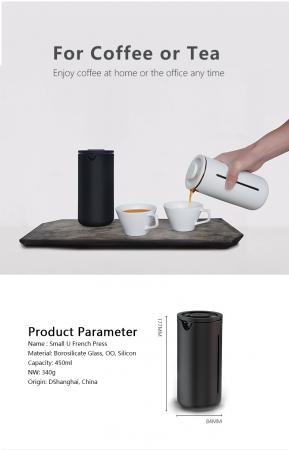 Presa franceza - ALB 450ml pentru cafea si ceai TIMEMORE [21]