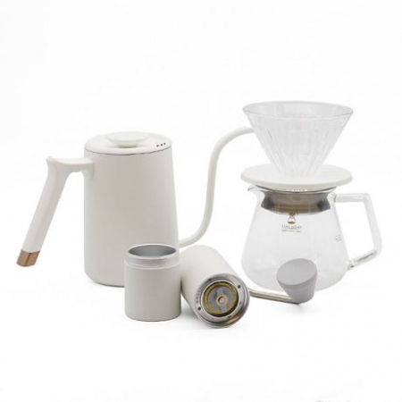 Set cadou C2 Pour over (Fish Pure) alb Timemore0