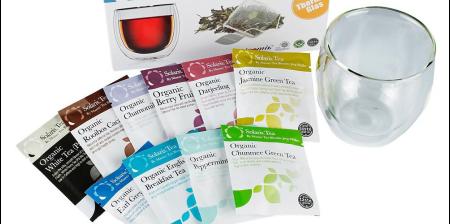 Set Pahar Dublu + 10 plicuri Ceai Organic0
