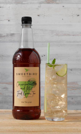 Sirop Sweetbird Cucumber & Mint Iced Green Tea - 1L1