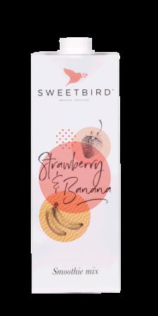 Smoothie Strawberry & Banana Sweetbird 1L0