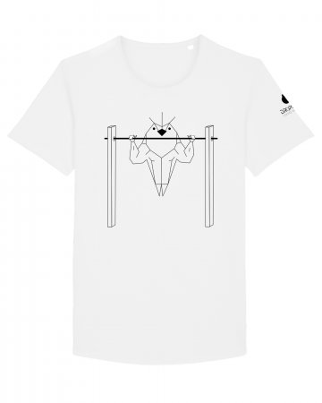 Tricou Alb Personalizat Dropshot Muscle [2]