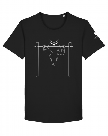 Tricou Negru Personalizat Dropshot Muscle [2]