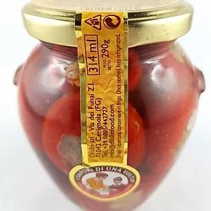 Ardei iute rosu umplut cu ton in ulei 314 gr 0