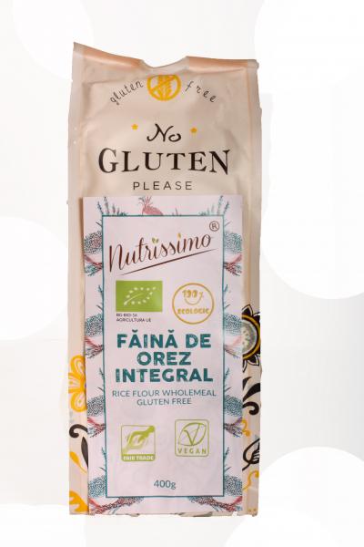 Faina integrala de orez fara gluten ECO 400 GR 0