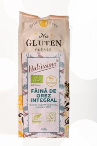 Faina integrala de orez fara gluten ECO 400 GR0