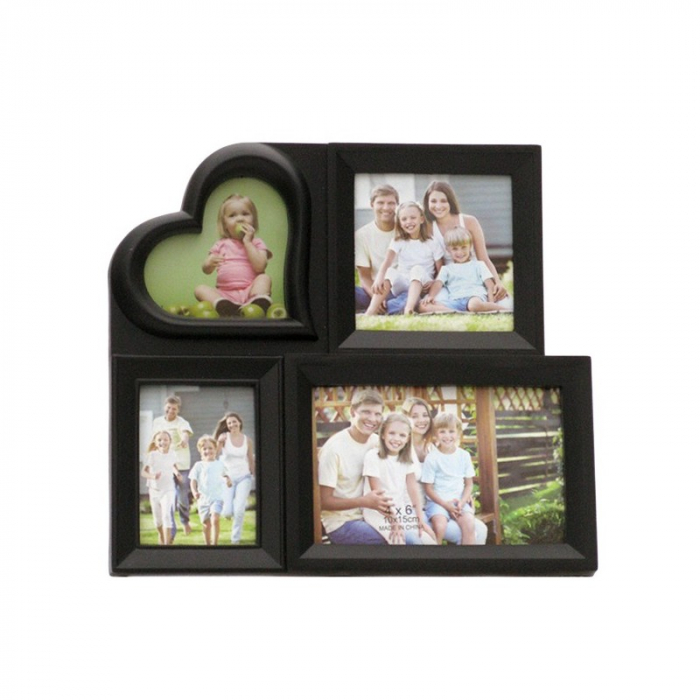 Rama colaj inimioara, 4 poze, 28x21 cm, fotografii incluse 0